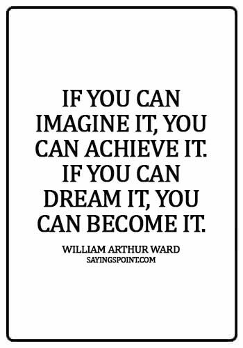 """Imagination Sayings - """"If you can imagine it, you can achieve it. If you can dream it, you can become it."""" —William Arthur Ward"""