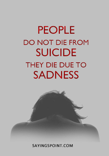 52 Suicide Quotes Sayings Sayings Point