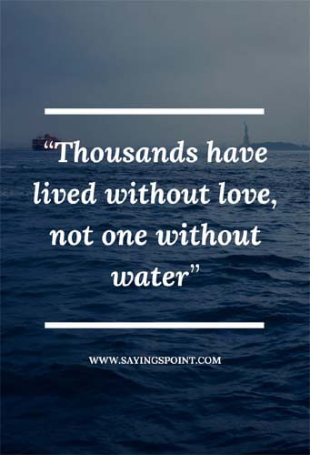 save water sayings