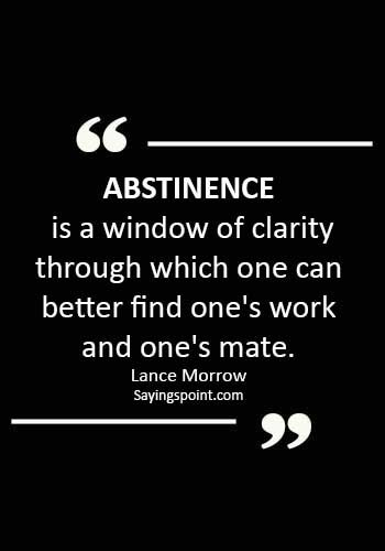 Abstinence Quotes - Abstinence is a window of clarity through which one can better find one's work and one's mate. - Lance Morrow