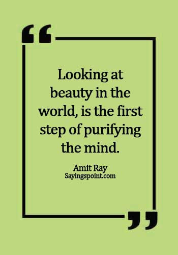best nature quotes - Looking at beauty in the world, is the first step of purifying the mind. - Amit Ray