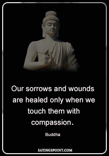 "Buddha Quotes - ""Our sorrows and wounds are healed only when we touch them with compassion."" —Buddha"