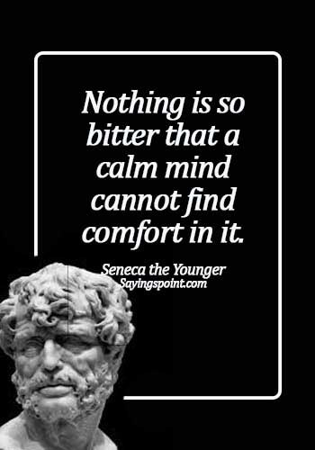 Keep Calm Sayings - Nothing is so bitter that a calm mind cannot find comfort in it. - Seneca the Younger