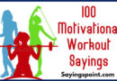 Workout Sayings