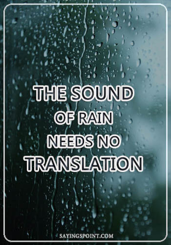 rainy day quotes and sayings sayings point