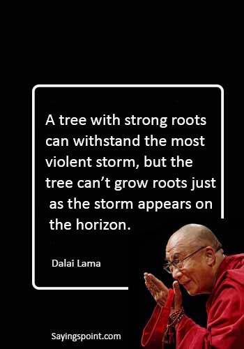 "Dalai Lama Quotes - ""The wise man in the storm prays to God, not for safety from danger, but deliverance from fear."" —Ralph Waldo Emerson"